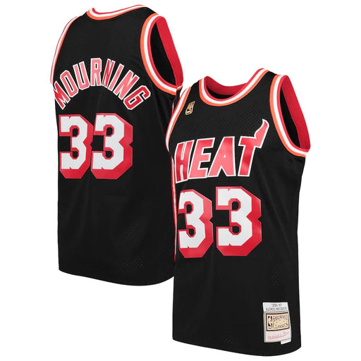 Alonzo Mourning Miami Heat Hardwood Classics Throwback NBA Swingman Jersey - Sport&More