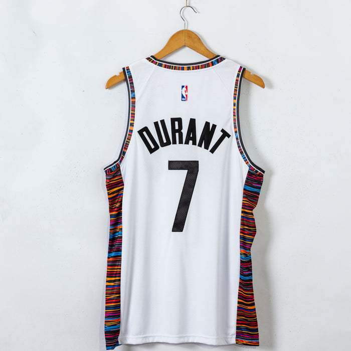 #7 Durant Brooklyn Nets 2021 city jersey white (stitched ...