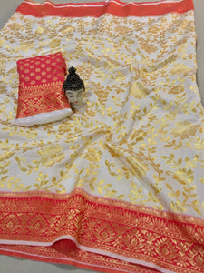 vechan - New Beautiful Saree Cream Soft Silk With Rich Pallu - LECART.in - Saree
