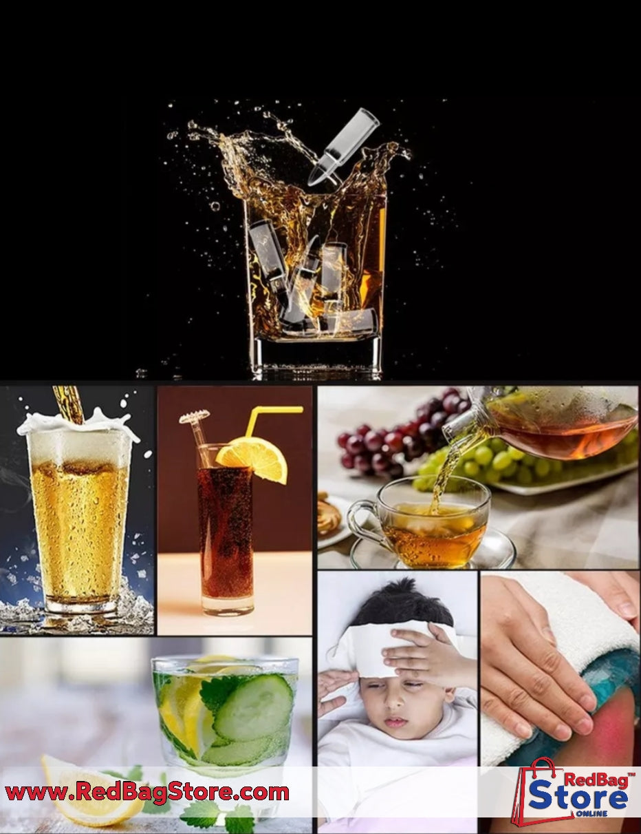 Bullet Shaped Ice Cube Stainless Steel Food Grade Safety Whisky Wine Coffee Chiller Bar Chiller Tool