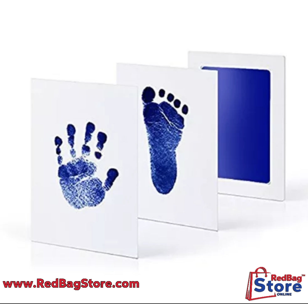 Baby Care Non-Toxic Baby Handprint Footprint Imprint Kit Baby Souvenirs Newborn Footprint Ink Pad