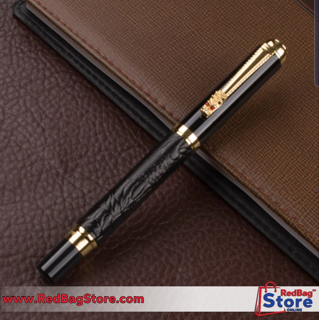Luxury Gift Pen Set High Quality Dragon Roller ball Pen with Original Case Metal Ballpoint Pens.