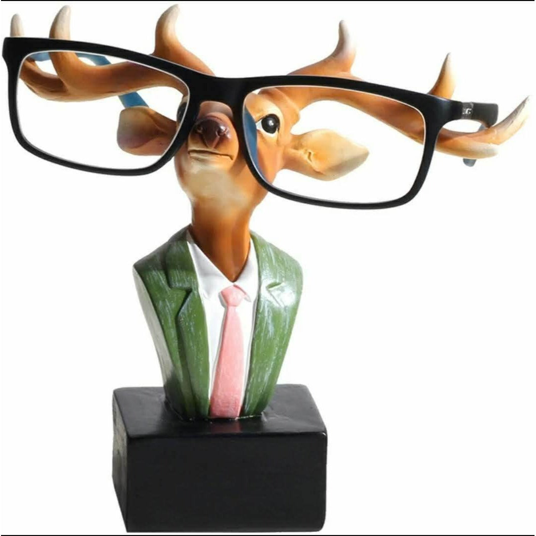 Resin Rabbit Deer Glasses Bracket Figurines Creative Animal Glasses Stand Luxury