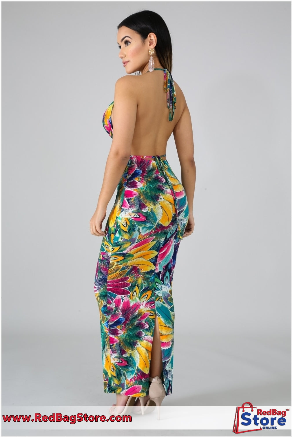 Feathers Maxi Dress