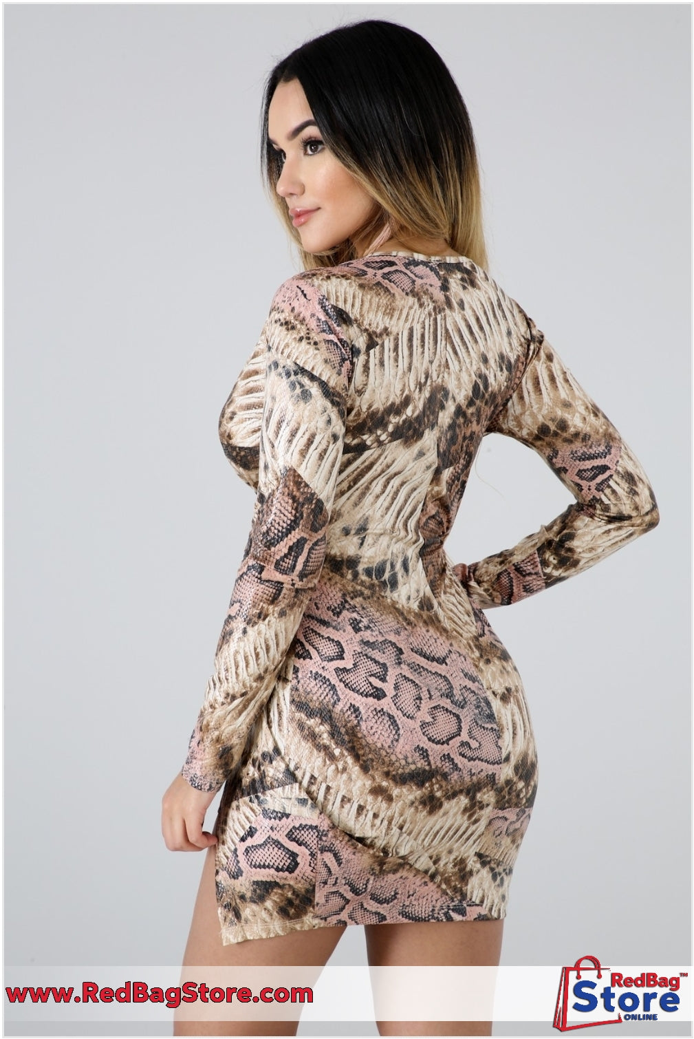 Bite Shine Dress Animal Print