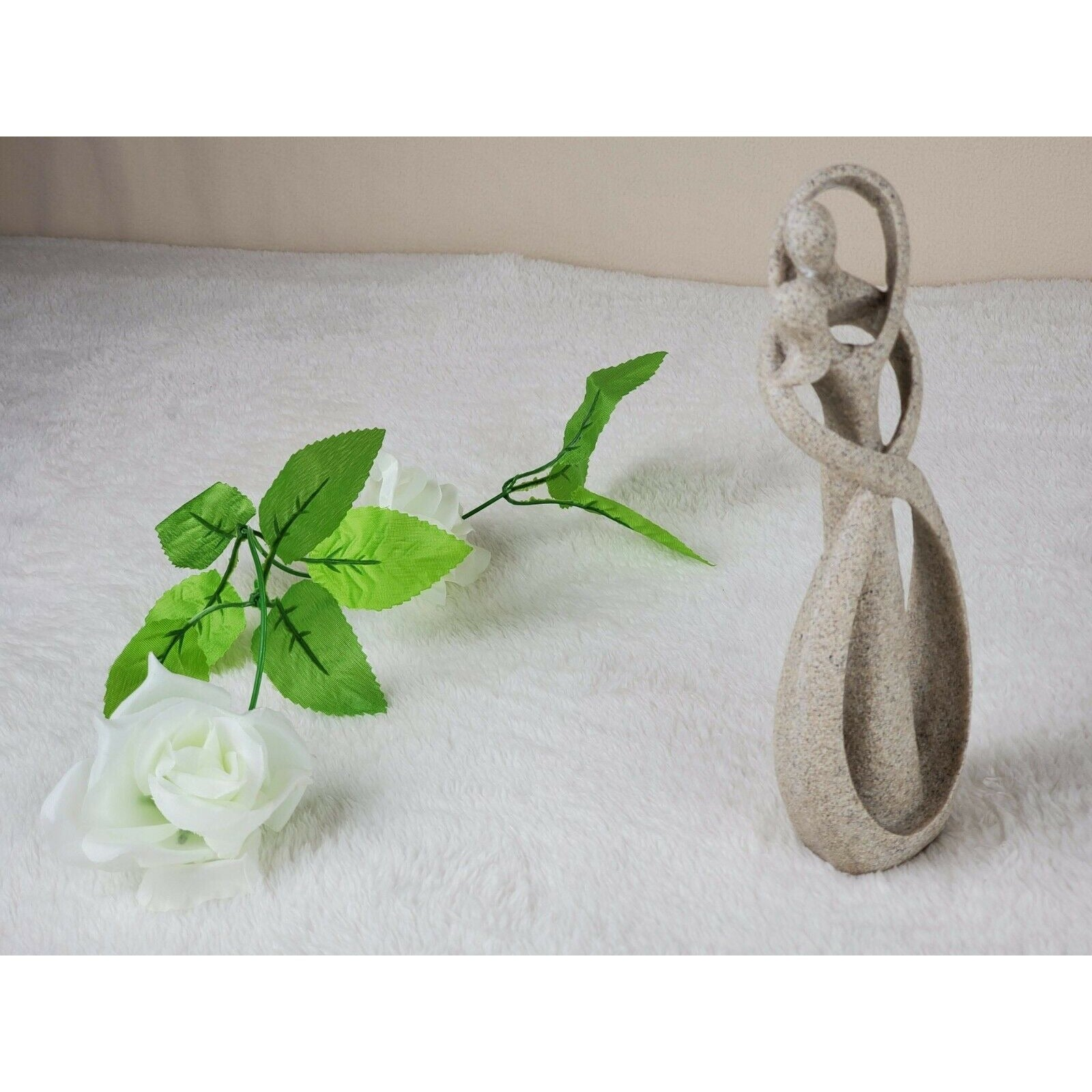Sandstone Kissing Lover Statuettes Wedding Statue Decor Anniversary Souvenirs