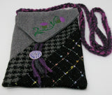 Woven cross-body pouch by Heather Knight