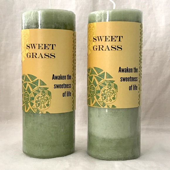 Sweetgrass Pillar Candles