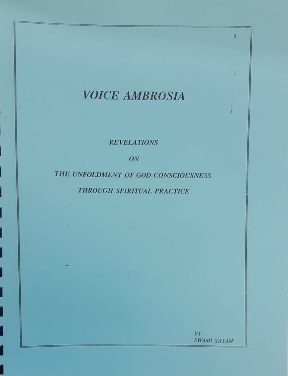 Voice Ambrosia - Revelations by Swami Shyam