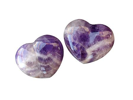 Amethyst - Gemstone Heart (Chevron)