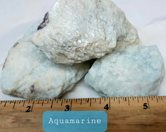 Aquamarine Specimen - with Lepidolite inclusions