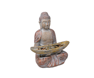 Seated Buddha - with Tray & Tea Light