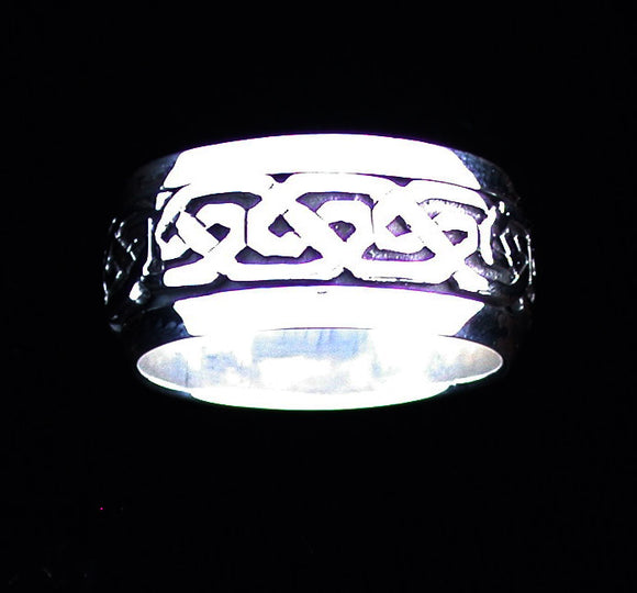 Celtic Eternity Knot Band - Spinner Ring