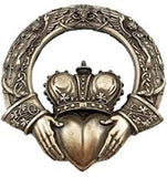 Irish  Claddagh Wall Plaque - Bronzed