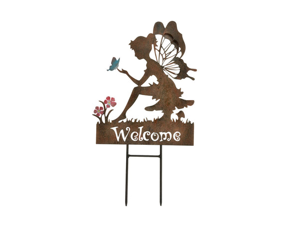 Fairy Welcome Garden Stake