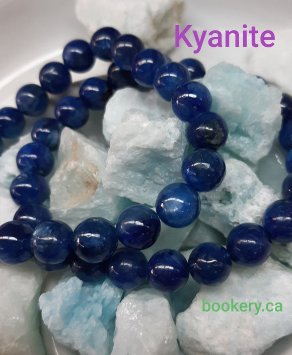 Blue Kyanite Bracelet - Stretch - 8mm