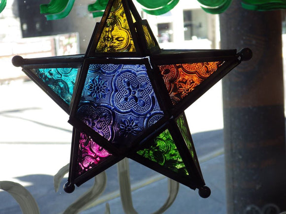 Stain Glass Star Lantern