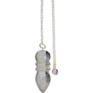 Pendulum in Carved Crystal Quartz