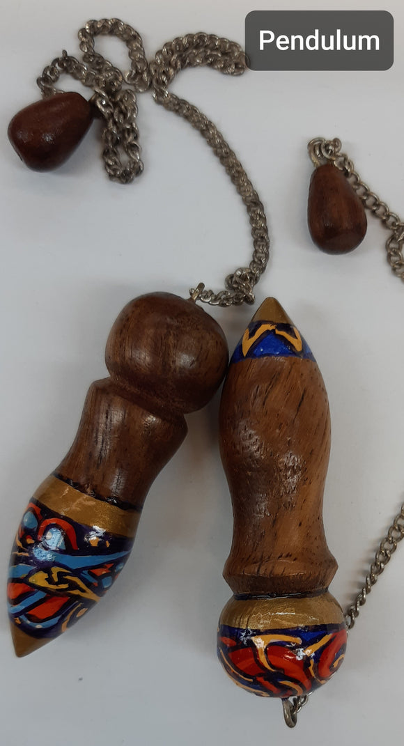 Celtic Bird - Hand Painted  Wooden Pendulums