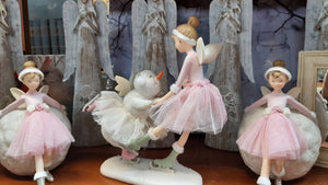 Dancing Fairy with Snowman