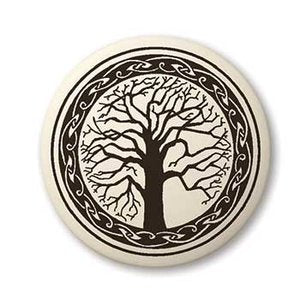 Sacred Tree of Life Pendant - Porcelain