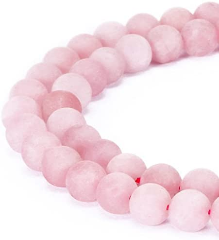 Rose Quartz Bracelet - 8mm - Stretch - Matte Finish
