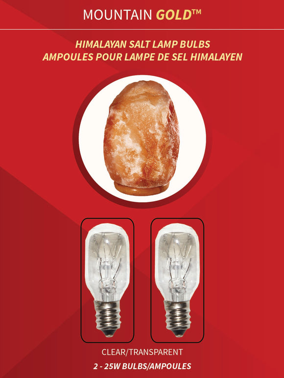 Himalayan Salt Lamp Bulb - 2 pack