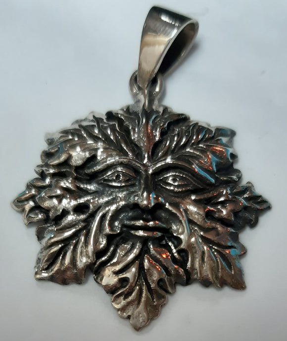 Green man Pendant - Sterling Silve
