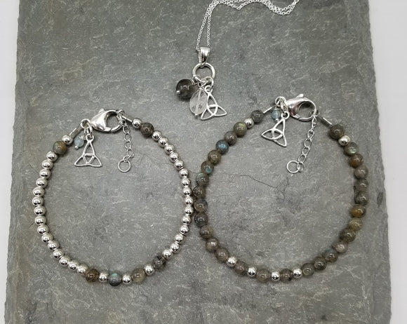 Trinity & Labradorite - Bookery Exclusive Collection - Necklace & Bracelets