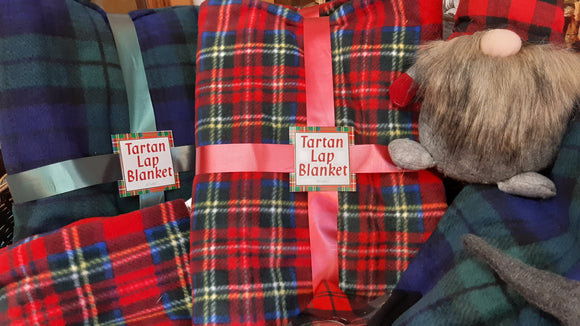Tartan Fleece Lap Blanket - Royal Stewart or Black Watch