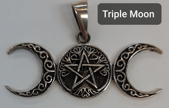 Triple Moon - Goddess Pendant