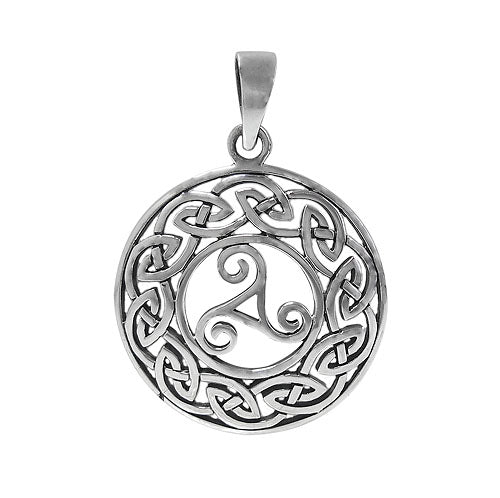 Celtic Triskele Pendant in Sterling Silver