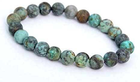 African Turquoise Bracelet - 8mm - Stretch
