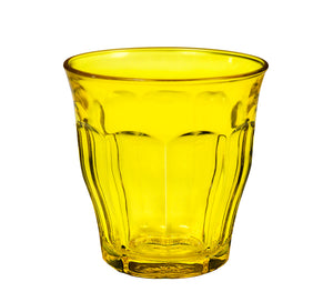 Duralex Picardie Colors Citrine Yellow Tumbler 25cl x6 - Clémentine Boutique