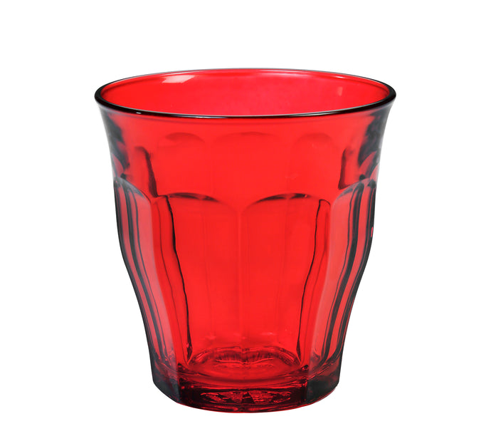 Duralex Picardie Colors Ruby Red Tumbler 25cl x6 - Clémentine Boutique