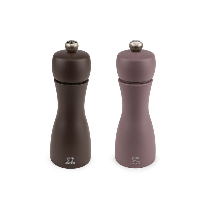 Peugeot Canada Tahiti Duo Salt & Pepper Mills Set Winter Chestnut Clementine Boutique