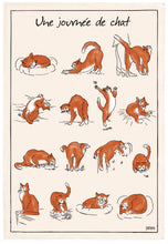 Charger l'image dans la galerie, French cat tea towel Dubout Made in France Clementine Boutique