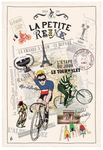 Tea Towel Tour de France Bicycle Made in France Winkler Canada Clementine Boutique