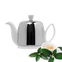 Load image into Gallery viewer, Degrenne Canada Salam White Teapot 4-cup Clementine Boutique