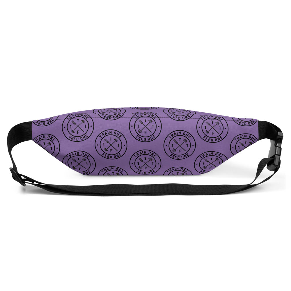 T1F1 Logo Fanny Pack (Black/Purple)