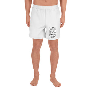 T1F1 Logo Men's Athletic Shorts (WHT/BLK)