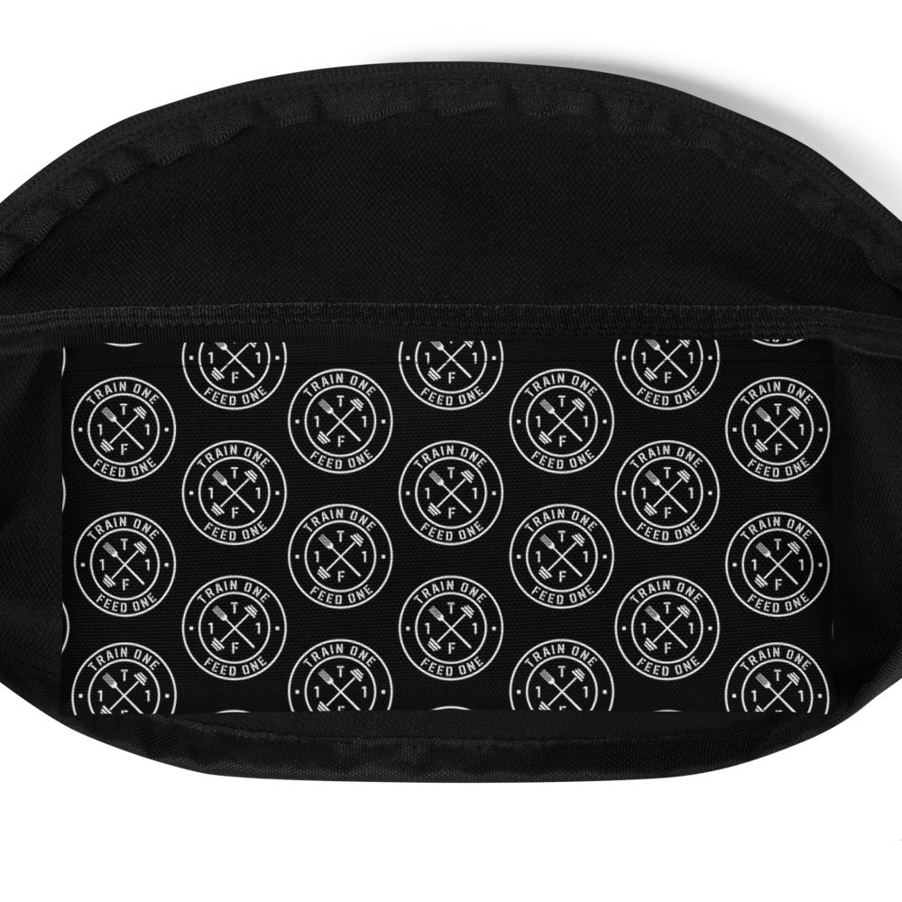 T1F1 Logo Fanny Pack (White/Black)
