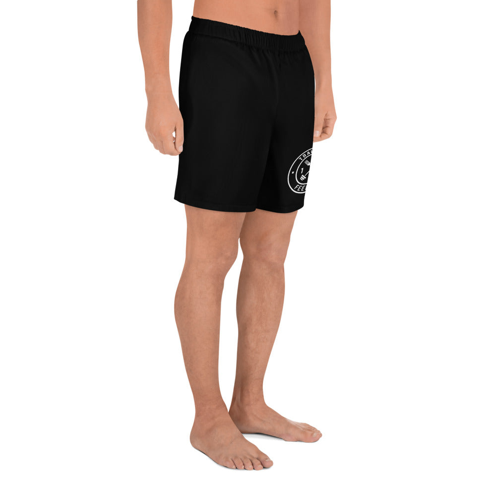 T1F1 Logo Men's Athletic Shorts (BLK/WHT)
