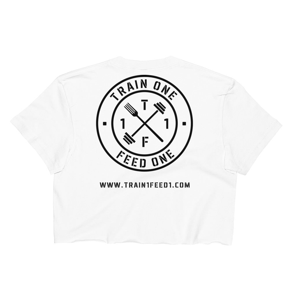 T1F1 Logo Crop Top (Black Logo)