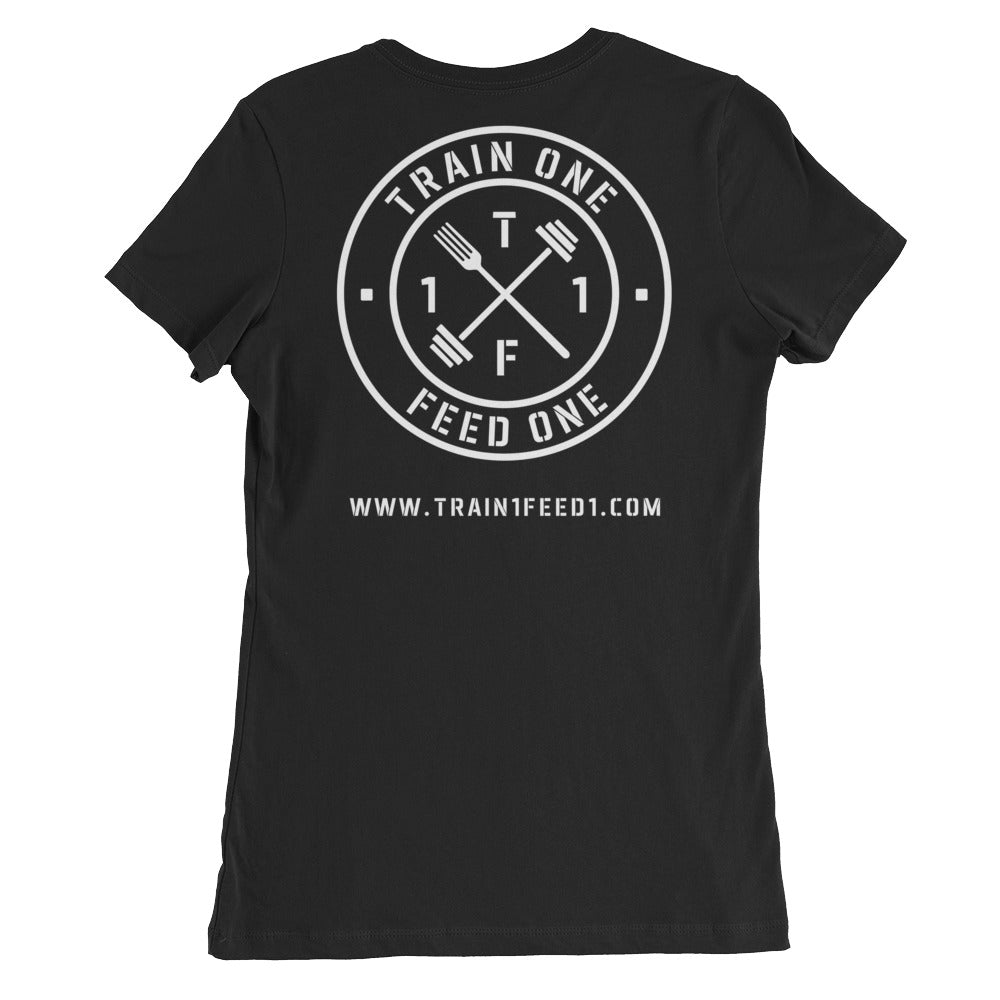 T1F1 Logo Women's Slim Fit Tee (White Logo)