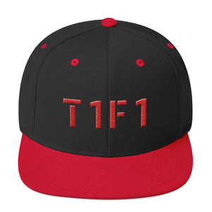 T1F1 Text Logo Snapback (Red Thread)