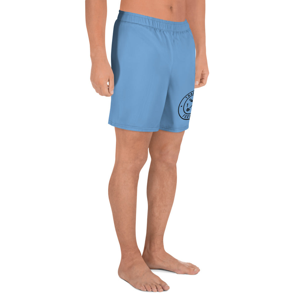 T1F1 Logo Men's Athletic Shorts (BLU/BLK)