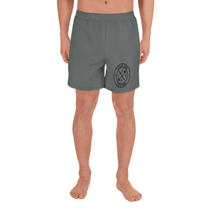 T1F1 Logo Men's Athletic Shorts (GRY/BLK)