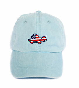 Turtle USA Hat (Light Blue)