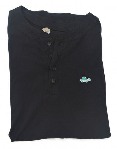 Henley Turtle Tee (Black)